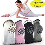 GYBest 8 Pairs Yoga Socks Non Slip Skid Sock with Grips, Comfortable and Breathable Yoga Sock, For Men and Women, Set of 8