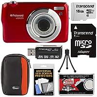 Polaroid i20X29 Digital Camera (Red) with 16GB Card + Case + Reader + Mini Tripod + Kit