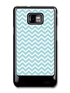 Chevron pattern fits Samsung Galaxy S2 S2 Plus Case Light blue