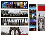 new york bookmark - 6X Various Unique Ultimate Collectible New York Magnetic Bookmarks NYC Gift NY Souvenir Bookmark Page Index - Set of 6