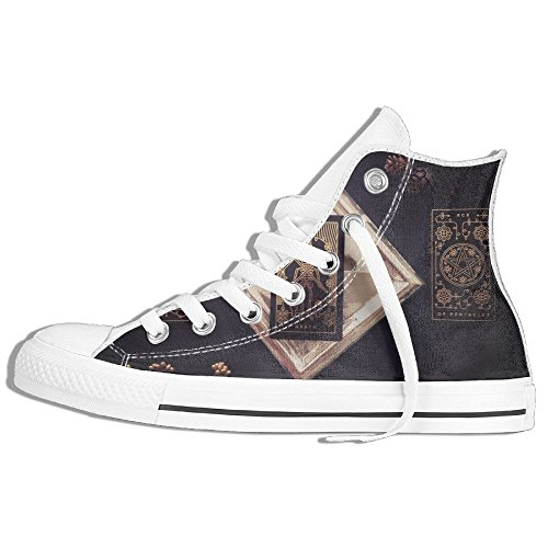 Classiche Sneakers Alte Scarpe Di Tela Antiscivolo Filetto Tarocchi Casual Da Passeggio Per Uomo Donna Bianco