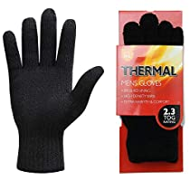 Women Mens Winter Thick Thinsulate Insulated Thermals Gloves Knit Warm Wool Lining
