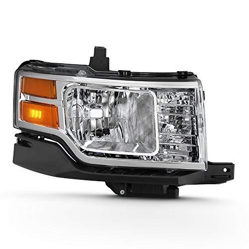 - ACANII - For 2009 2010 2011 2012 Ford Flex Factory OE Style Halogen Chrome Headlight Headlamp Assembly Passenger Side