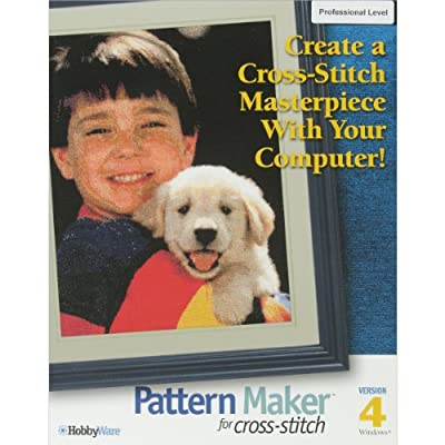 Hobbyware Pattern Maker Cross Stitch Software, Professional Version
