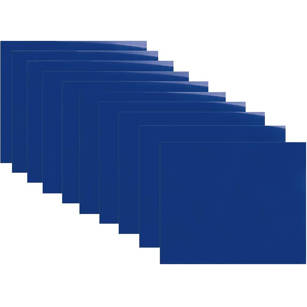 U-ZM Heat Transfer Vinyl HTV Bundle 12 x 10 10 Sheets Iron On Vinyl for Cricut and Silhouette Cameo Silver