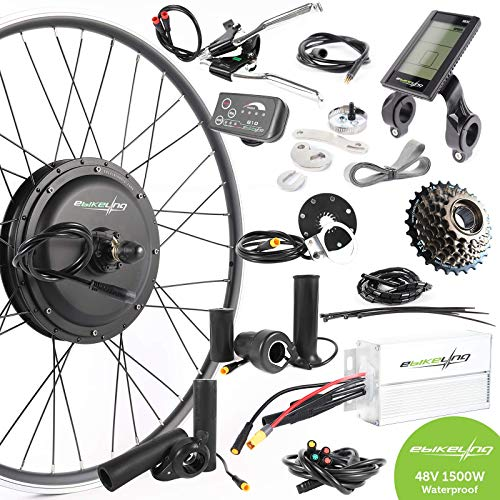 EBIKELING 48V 1500W 700C Direct Drive Rear Waterproof Electric Bicycle Conversion Kit (Rear/LCD/Thumb) (Best E Bike Conversion Kit 2019)