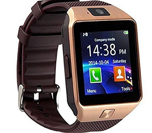 BROWN Original DZ09 Smart Watch Support SIM TF Card Camera Voice Record Connect Android Smartphone DZ09