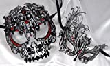 Lovers Collection Men Women Couple Red R12 Combo Cut Venetian Masquerade Mask Event Party Ball Mardi Gars