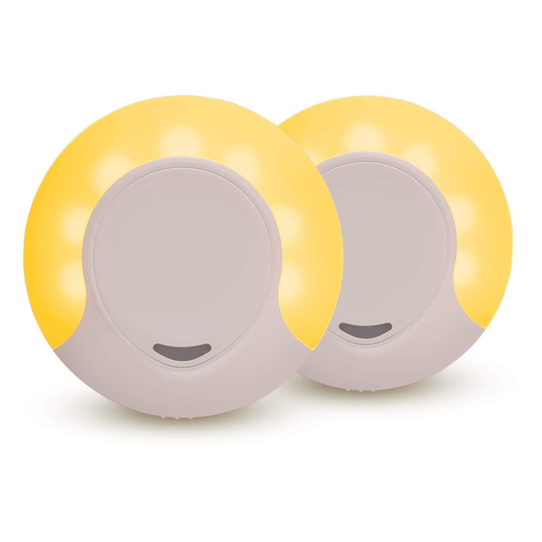 Sleep Aid Amber LED Night Light Plug in with Dusk to Dawn Sensor, Low Blue LED Promotes melatonin Production and Healthy Sleep, ON-Off-Auto Toggle, 2-Pack night light Night Light Review – 3 affordable night lights on Amazon 51ooBAmWKLL