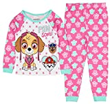 PawPatrol Little Girls Paw Some! Long Sleeve Cotton Pajama Tight Fit (5T)