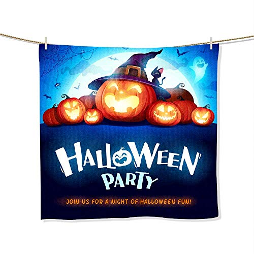 FootMarkhome Fiber Reactive Beach Towel Halloween Party Jack