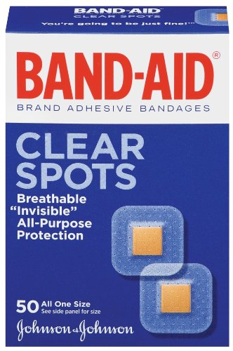 Band-Aid Brand Adhesive Bandages, Clear Spots, 50-Count Band