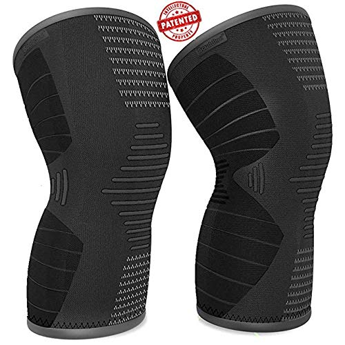 Scuddles Compression Knee Sleeve - Best Knee Brace for Meniscus Tear, Arthritis, Quick Recovery etc. – Knee Support for Running, Crossfit, Basketball and Other Sports