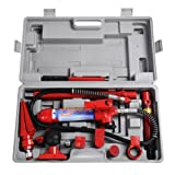 New 4 Ton Porta Power Hydraulic Jack Body Frame Repair Kit Auto Shop Tool Heavy Set