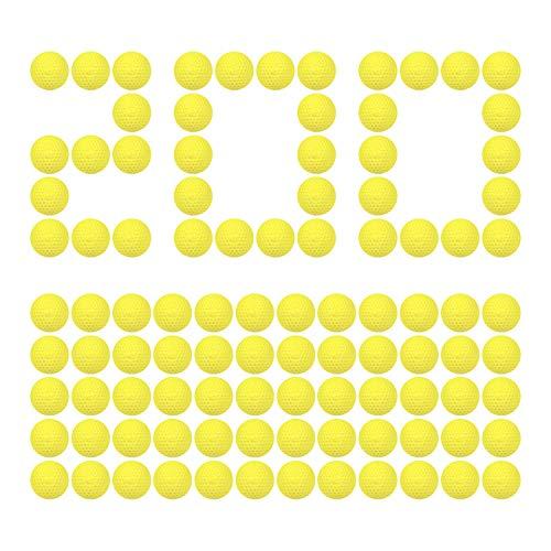 HeadShot Ammo Compatible with Nerf Rival Blasters, Bulk Yellow Foam Bullet Ball Replacement Refill Pack for Prometheus, Apollo, Zeus, Khaos, Atlas, Artemis, Kronos & Nemesis (200 Rounds, Yellow)
