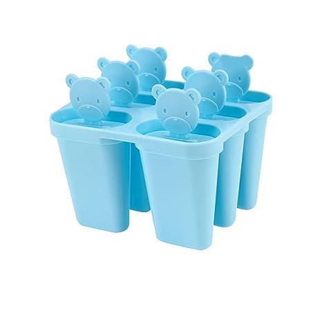 XIAOJUNJUN Moldes Para Helados Bear 6 Pack Ice Cream Mold Ice Cream Helado De Paleta Diy