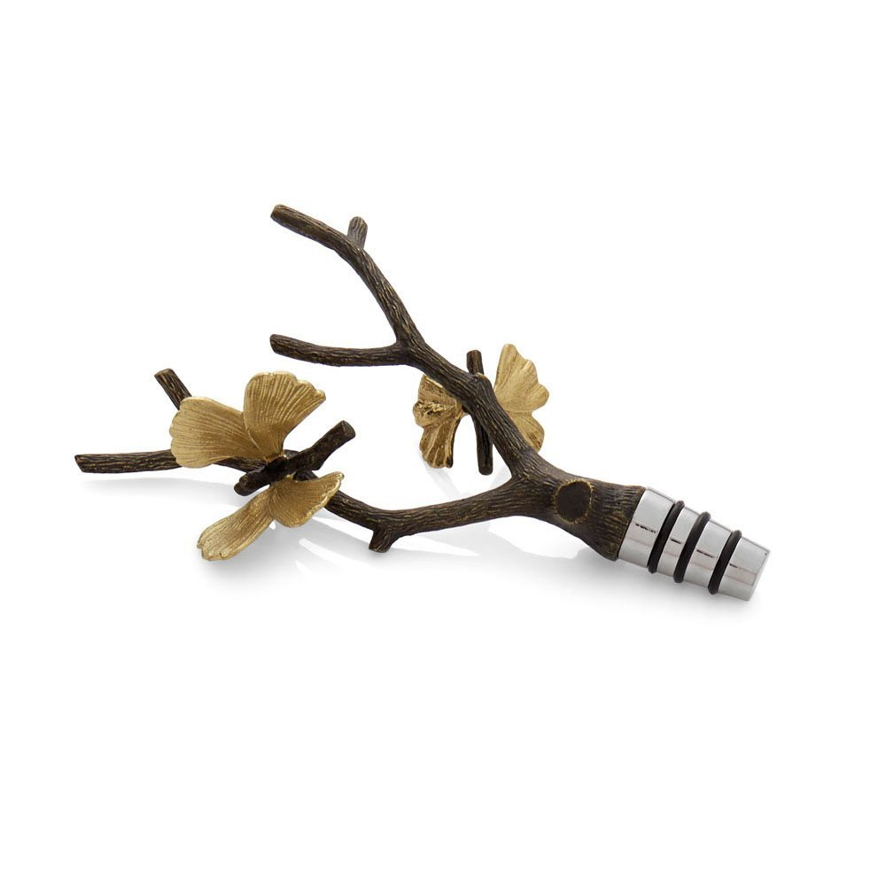Michael Aram Butterfly Ginkgo Wine Stopper by Michael Aram
