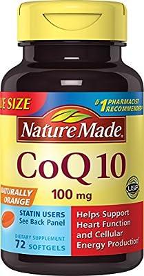 Nature Made CoQ10 (Coenzyme Q 10) 100 mg. Softgels