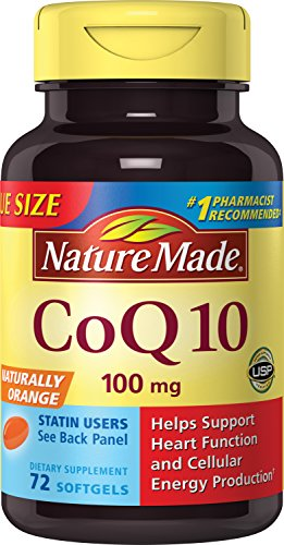 Nature Made CoQ10 (Coenzyme Q 10) 100 mg. Softgels 72 Count Value Size