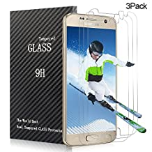Samsung Galaxy S7 Screen Protector,CBoner Tempered Glass 3D Touch Compatible,9H Hardness,Bubble (3Pack)