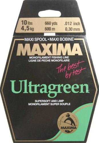 Maxima Fishing Line Maxi Spools, Ultragreen, 10-Pound/660-Yard