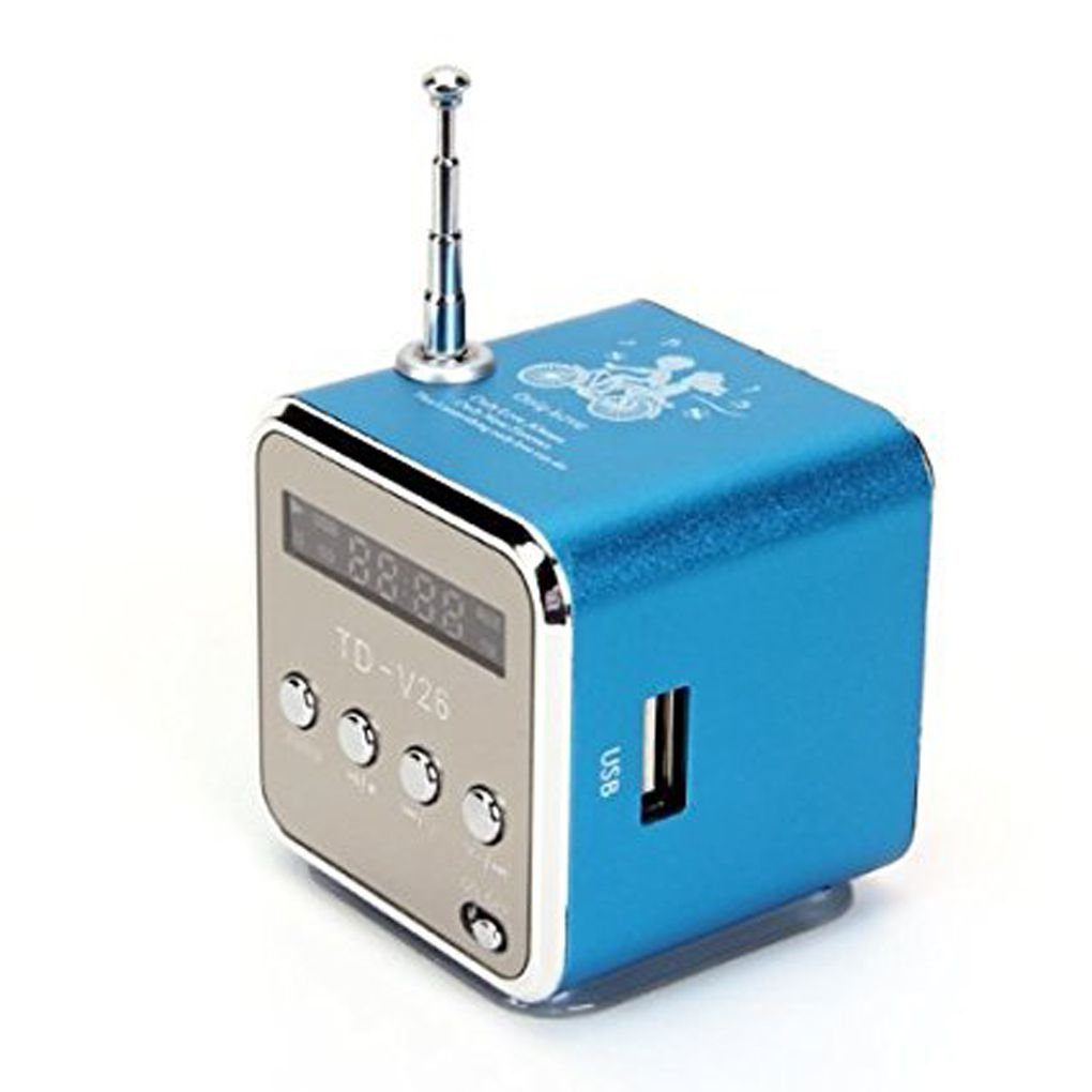 Babysbreath17 Mini carte SD/TF d'entraînement d'instantané d'USB de haut-parleur d'affichage numérique portatif amzbreath41682