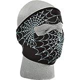 Zan Headgear Spiderweb Men's Glow in the Dark Full Face Mask Sports Bike Motorcycle Helmet Accessories - One Size Fits All