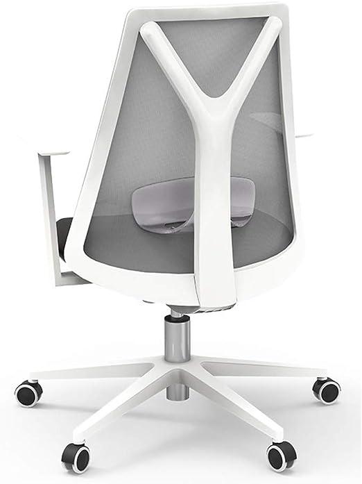 Silla de oficina para el hogar, color blanco y negro, silla de ...