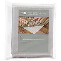TRU Lite Rug Gripper - Non-Slip Rug Pad for Hardwood Floors - Non Skid Washable Furniture Pad - Lock Area Rugs, Mats, Carpets, Furniture in Place - Trim to fit Any Size - 2 x 8