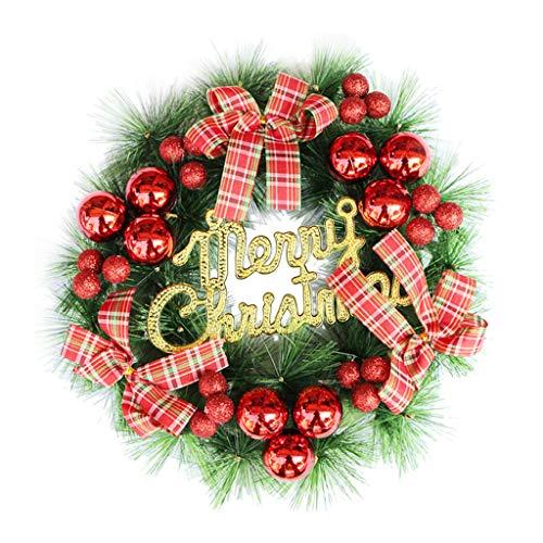 MSOO Christmas Wreath Door Wall Ornament Garland Decoration (E 30CM) (8' Album Photo Digital)