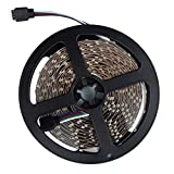 Weite 16.4ft Waterproof Flexible LED Light Strip, 300 Units SMD 3528 LED, 6000K Daylight White, LED Tape, 12V LED Light Strips, for Gardens Homes Kitchen Cars Bar (A)