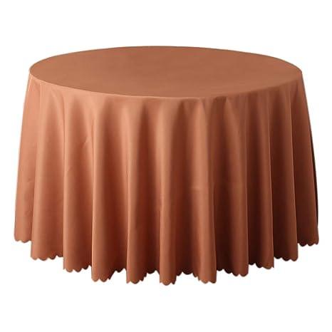 JUNGEN Mantel Redondo Grande Mantel de Mesa Redonda Mantel de Liso con Color sólido Mantel de Tela Mantel Decoracion para Cocina Comedor Hotel ...