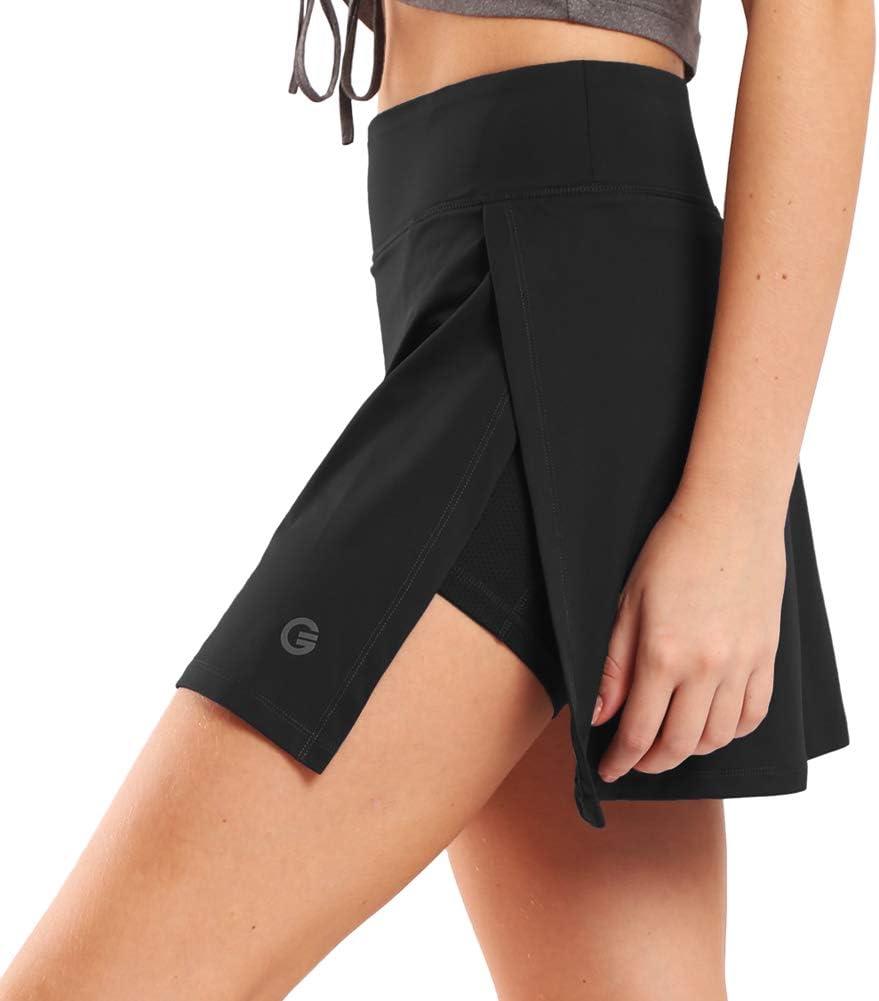Gonna Pantaloni tempo libero rock sportivo mini gonna con short da donna 95/% COTONE