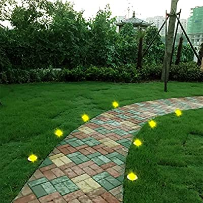 leeyarlam Color Rotating Solar Garden Lights Colorful Outdoor Solar In-Ground Lights for Pathway Walkway Driveway Landscaping Lawn Yard and Patio 4 Pack : Garden & Outdoor