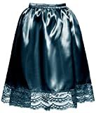 DYS Women's Satin Slip Short Petticoat Skirt Underskirt Lace Hem Many Colors Teal XXL/3XL