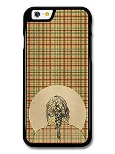 diy case Girl with a Braid Tartan Pattern Scottish Original Art Illustration case for iPhone 5c