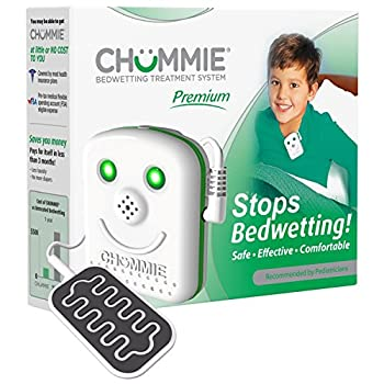 Image of Chummie Premium Bedwetting Alarm for Deep Sleepers - Award Winning, Clinically Proven System with Loud Sounds, Bright Lights and Strong Vibrations, Green Bedwetting Monitors