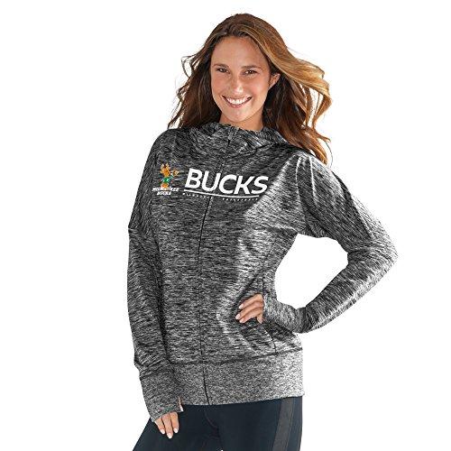 NBA Milwaukee Bucks Women's Receiver Hoody, Medium, Heather Grey by GIII For Her