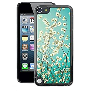 A-type Arte & diseño plástico duro Fundas Cover Cubre Hard Case Cover para Apple iPod Touch 5 (Sunshine Tree Sunny Summer)
