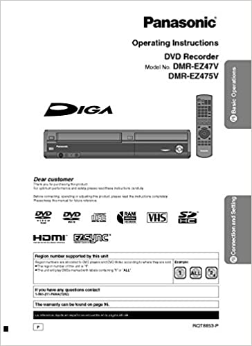 Panasonic diga dmr-ez47v manuals.