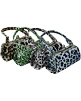 Leopard Design Coin Purse Change Wallet for Women in Assorted Colors set of 4
