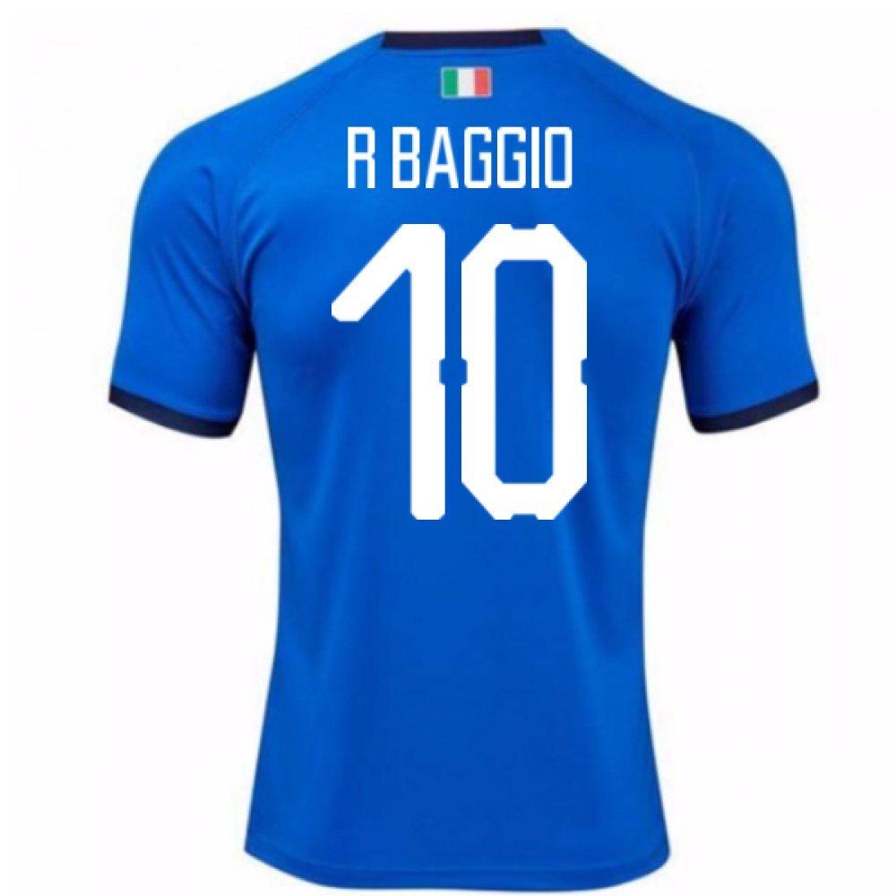 2018-19  Home Football Soccer T-Shirt Trikot (Roberto Baggio 10) - Kids