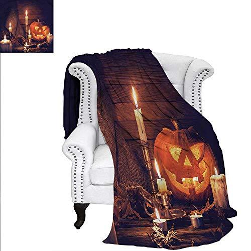 RenteriaDecor Halloween Super Soft Blanket Wood Planks and