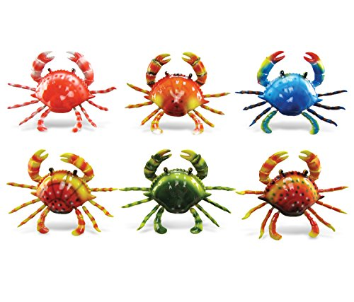 Puzzled Plastic Animal Crab Bobble Magnets Vibrant Cute for Moms Women Wild Animals Safari African Life Gifts Zoo Collection Home Kitchen Fridge Refrigerator Accessory 3.5 inch 6 - Magnets Refrigerator Womens Fridge