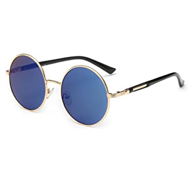 Gafas de sol redondas para mujer de Linyuan, diseño clásico vintage, UV400