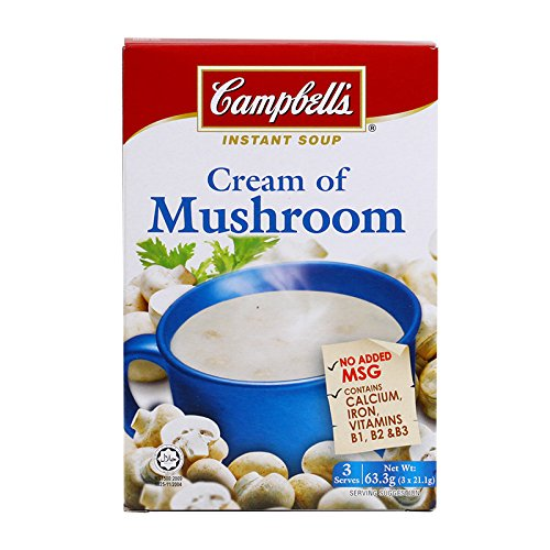 Campbell's, Instant Soup, Cream of Mushroom, 63.3 g (Pack of 2 units) / Beststore by KK