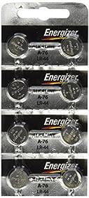 Energizer LR44 1.5V Button Cell Battery x 8 Batteries (Replaces: LR44, CR44, SR44, 357, SR44W, AG13, G13, A76, A-76, PX76, 675, 1166a, LR44H, V13GA, GP76A, L1154, RW82B, EPX76, SR44SW, 303, SR44, S303, S357, SP303, SR44SW)