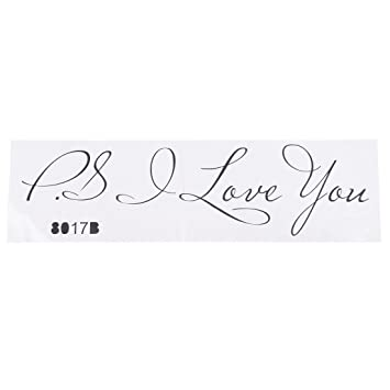 SODIALR Hot Sale Letter Patterns PS I Love You PVC Wall Quotes Interesting Quotes About Patterns