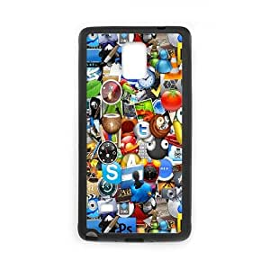 Samsung Galaxy Note 4 Cell Phone Case Black Icons GY9279643
