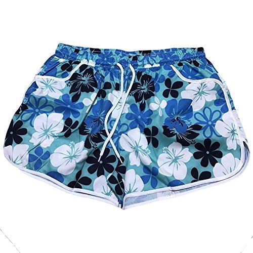 Da Estivo Eleganti Longra Pantaloncini Pantaloni Estivi Blu Stampati Tasche Sportivi Sexy Corti Donna Spiaggia Caldi Con Cotone Pigiama pSwtqSg